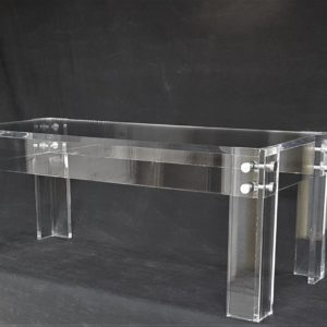 Square-Legged Lucite Coffee Table 40″ W x 20″ D x 18″ H