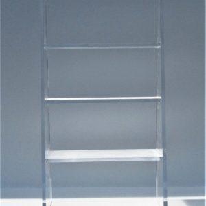 3-Shelf Lucite Bookcase 22″W x 10″D x 44″H