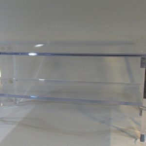 Lucite Coffee Table With Shelf 40″ W x 20″ D x 18″ H