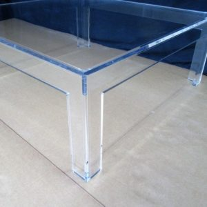PARSONS-Style Lucite Coffee Table