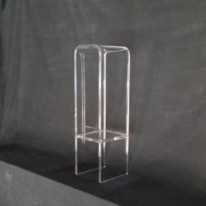 Lucite Pedestal Table with Shelf