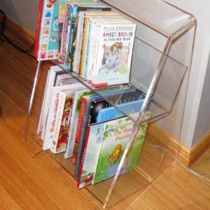 One Shelf Lucite Bookcase 17″W x 16″D x 28″H