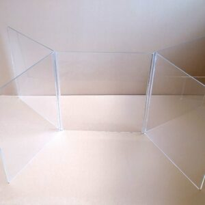 4-Person Adjustable Sneeze Shield 5-Panel Table Dividers